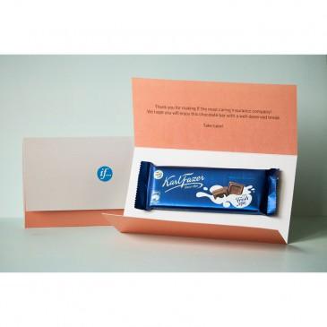 Brevutskick Fazer chokladkaka