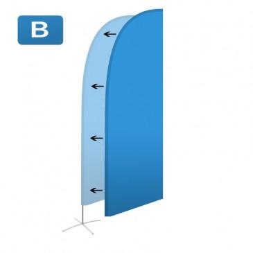 Beachflagga (duk) Large Rak